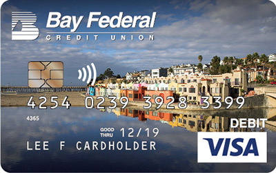 Visa Debit card with image of Capitola beach