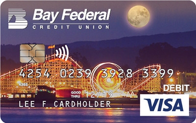 Visa Debit Card with image of the Boardwalk