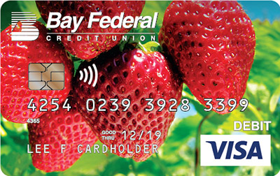 Via Debit card with stawberries image
