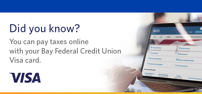 Pay taxes online with your Visa card