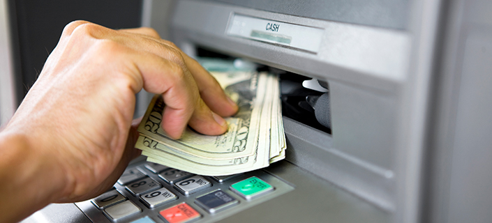 Receiving Cash from ATM